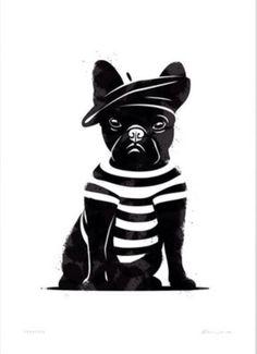 """Glenn Jones Art - """"Frenchie"""""""