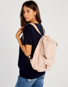 Glassons - Womens Fashion Canvas Backpack, Drawstring Backpack, Hair Accessories, Backpacks, Womens Fashion, Pink, Stuff To Buy, Bags, Clothes