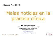 Malas noticias en la práctica clínica