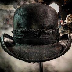 Custom Made Handcrafted Beaten   Broken Mercurized Dealer s Derby. Western  Hats 8583f5563260