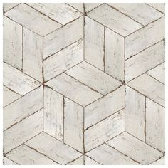 Shop for SomerTile Lambris Naveta Blanc Porcelain Floor and Wall Tile sqft. Get free delivery On EVERYTHING* Overstock - Your Online Home Improvement Shop! Basement Flooring, Bathroom Flooring, Kitchen Flooring, Wood Look Tile Bathroom, Wood Look Tile Floor, Ceramic Wood Tile Floor, Floor Grout, Wood Floor Design, Entryway Flooring
