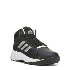 Adidas Kids' Ilation Mid Top Wide Sneaker Pre/Grade School Shoes (Black/Silver/White) - 11.0 W