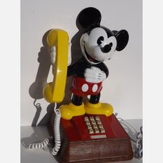 Mickey Mouse Touch Tone Phone vintag