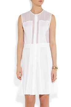 Karl Lagerfeldpleated white dress