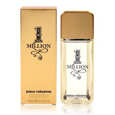 Paco Rabanne 1 Million 100ml Aftershave. RRP £35.50 | TJ Hughes Price £32.00. Paco Rabannes 1 Million aftershave is inspired by the wealth and luxury of gold. This innovative scent contains a rich blend of of grapefuit, orange and rose, spiced with cinnamon and mint. Mingling with the soft white woods are patchouli, amber and leather. The bottle has been designed to look like a bar of gold for an eyecatching effect. Now you can feel like a million dollars…