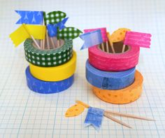 Food picks made in a minute | Washi Tape Crafts | Bloglovin