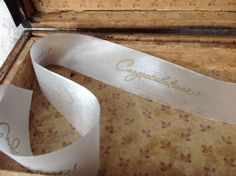 congratulations ribbon gold and ivory sheer ribbon by ShyMyrtle