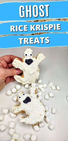 Ghosts are one of the bests part of Halloween. Try out this easy, no bake recipe for Ghost Rice Krispie Treats and have a deliciously good time! #nobakedesserts #easydesserts #ricekrispietreats Rice Crispy Treats, Krispie Treats, Rice Krispies, No Bake Desserts, Easy Desserts, Fun Halloween Treats, Vanilla Icing, Shaped Cookie, Ghosts
