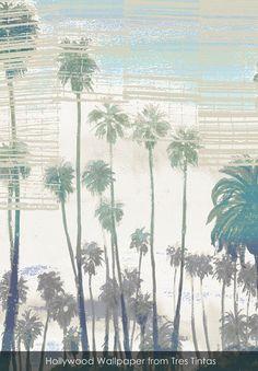 Hollywood wallpaper from Tres Tintas