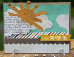 Fun card created by design team member Kim Holmes using our I Heart Summer collection