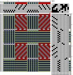 Brigitte Liebig | log cabin plain weave + 2/2 twill | 6-shaft, 12-treadle