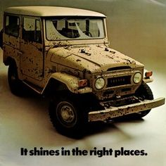 Toyota Land Cruiser Touchup Paint Codes, Image Galleries, Brochure and TV Commercial Archives Toyota Fj40, Toyota Trucks, 4x4 Trucks, Land Cruiser 4x4, Toyota Land Cruiser, Vintage Sports Cars, Vintage Racing, Vintage Advertisements, Boards