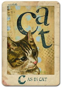 """""""C"""" as in Cat  Made with And So On... & Etcetra kits from Tumbel Fish Studio- now available in the Deviant Scrap Shoppe."""