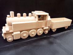 Parní lokomotiva hračka ze dřeva