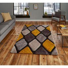 Noble House Grey / Yellow Rug by Think Rugs Best Carpet, Diy Carpet, Yellow Rug, Grey Yellow, Living Room Carpet, Rugs In Living Room, Geometric Pattern Design, Rustic Rugs, Handmade Rugs