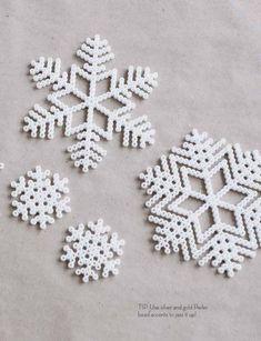 Nord 02 Melty (Hama) beads snow flake ornaments - add twine to hang!Melty (Hama) beads snow flake ornaments - add twine to hang! Hama Beads Design, Hama Beads Patterns, Beading Patterns, Peyote Patterns, Christmas Perler Beads, Natal Diy, Art Perle, 8bit Art, Peler Beads
