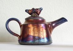 Sandy Terry Ceramic Artist and Painter: Raku Teapot # 1