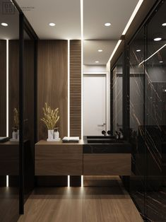 DEDE/Brutal minimalism on Behance Washroom Design, Toilet Design, Bathroom Design Luxury, Interior Design Photography, Dark Interiors, Home Design, Small Bathroom, Modern Bathrooms, Interior Architecture