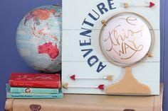 Adventure Globe Sign made with Styrofoam