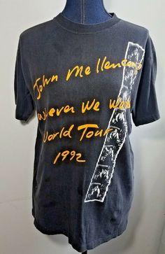 5618513a 1992 John Mellencamp Whenever We Wanted World Tour Band Concert XL T Shirt