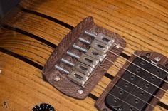 GV Handmade Guitars MMG 625 wooden bridge plate