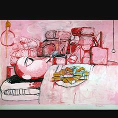 """brettgorvy: The essentials to my life: Painting, Smoking, Eating, Dreaming: Philip Guston - """"Painting is an illusion, a piece of magic, so what you see is not what you see. Who knows what sets off even the desire to paint? A memory, sensations, which has nothing to do with painting itself. They can come from anything and anywhere. Painting is the only thing left in our industrial society where an individual alone can make something with not just his hands, but brains, imagination, heart…"""