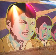 Graffiti of namm anna in bengaluru. Dr.Rajkumar