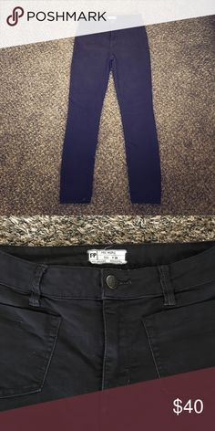 High Waisted Skinny Jeans Ohh Waisted skinny jeans. Great fit and stretchy! Free People Pants Skinny