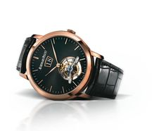 Audemars Piguet Jules Audemars Large Date Tourbillon 26559OR.OO.D002CR.01. Hand-wound tourbillon watch with large date and small seconds at 6 o'clock. 18-carat pink gold case, black dial, black strap.