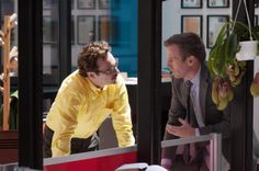 Joaquin Phoenix and director Spike Jonze on the set ofHer (2013).