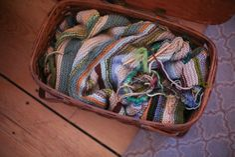 save yarn scraps to make a blanket