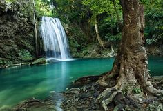 Erawan Waterfall 2 - Thailand.This is level four at Erawan Waterfall in Thailand. It was a great place to spend a day!