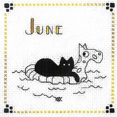 """Calico Crossroads """"June"""" Finished Completed Cross Stitch"""