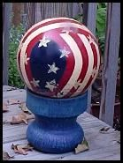 How to Paint a Bowling Ball at http://www.the-artistic-garden.com/blog/garden-art-project-how-to-paint-bowling-balls/