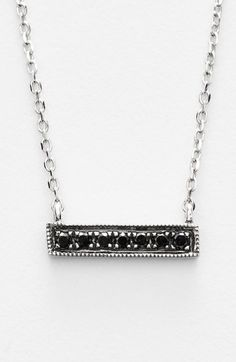 Women's Dana Rebecca Designs 'Sylvie Rose' Diamond Bar Pendant Necklace - Black Diamond/ White Gold
