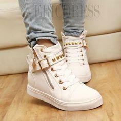 New Arrival Korean Style Zipper Riveted Comfortable Shoes Flats- ericdress.com 10784237