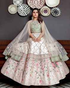 Zifaaf Bridal Couture Specializes in Custom Made Indian and Pakistani Bridal Dresses. Western Lehenga, Indian Bridal Lehenga, Pakistani Bridal Dresses, Indian Dresses, Bridal Gowns, Indian Wedding Outfits, Bridal Outfits, Indian Outfits, Dress Wedding