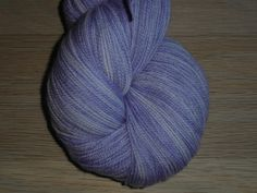 """Superwash Merino Wool Lace Yarn, 2-ply Lavender and White  """"Lavender Feelings"""" by SussesSpindehjrne on Etsy"""