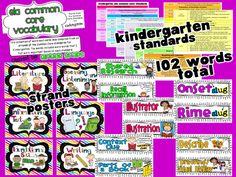 Ginger Snaps: Kindergarten Common Core ELA Vocabulary Cards