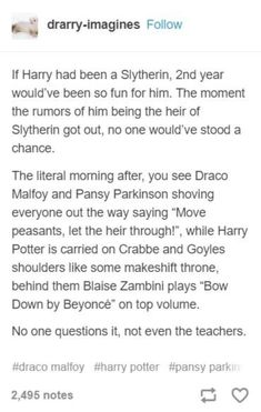 "however, his dumb ass thought slytherin was the ""bad house"" just because of stup. - however, his dumb ass thought slytherin was the ""bad house"" just because of stupid draco malfoy - Harry Potter Marauders, Harry Potter Jokes, Harry Potter Fandom, Harry Potter World, Drarry, Hogwarts, Slytherin Pride, Ravenclaw, Tom Felton"