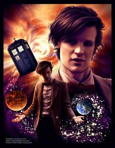 Doctor Who (most buteful dr who picture I've seen, love the earth and galafray and big Matt smith :) )