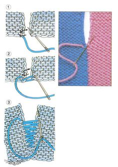 Knitting Designs, Knitting Stitches, Knitting Needles, Crochet Granny, Knit Crochet, Knitting Patterns, Techniques Couture, Tips & Tricks, Invisible Part Weave