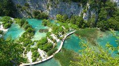 Parque Nacional de los Lagos de Plitvice (Lika, Croacia).