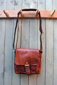 72c1753400 HANDMADE BRITISH SCOTTISH LEATHER SATCHELS Bronco Small Flap Over Bag  available at Great British Life Online Shop