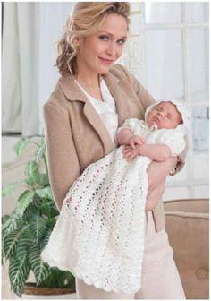 17 Crochet Baby Blankets for Christenings | AllFreeCrochet.com Crochet Gratis, All Free Crochet, Crochet For Kids, Irish Crochet, Blessing Dress, Baby Blessing, Baby Patterns, Crochet Patterns, Afghan Patterns