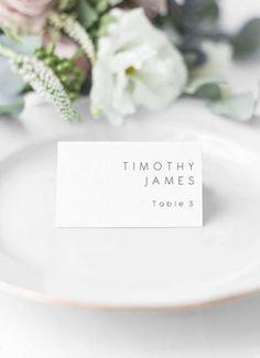 Flat Place Card Template Handwritten Printable Place Cards Wedding Place Cards Name Cards Escort Cards Editable Template Wedding Name Cards, Card Table Wedding, Wedding Menu, Wedding Souvenir, Wedding Table Names, Wedding Favors, Wedding Placecard Ideas, Creative Place Cards Wedding, Wedding Reception