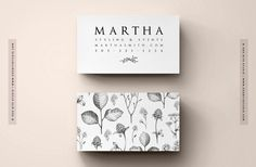 """DIY Business Cards - Instant Download - Printable contact card template - The """"Twig"""""""