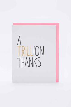 Ashkahn Trillion Thanks Card - Urban Outfitters
