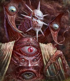 I love Art ,Horror and other nice things. Bizarre Kunst, Bizarre Art, Fantasy Kunst, Dark Fantasy Art, Dark Creatures, Fantasy Creatures, Fantasy Monster, Monster Art, Lovecraftian Horror