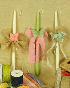 Χειροποίητες πασχαλινές λαμπάδες και υλικά για να τις φτιάξεις μόνη σου